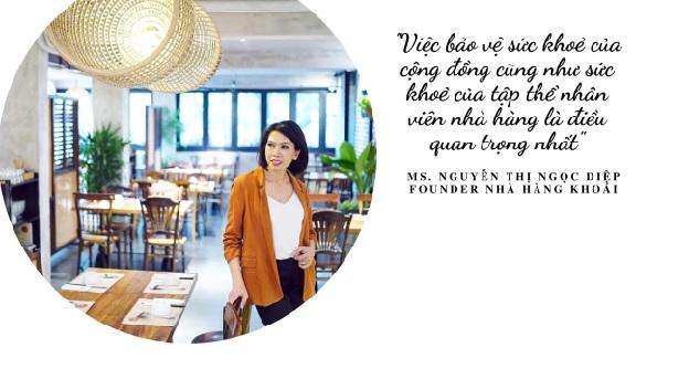 Founder nhà hàng Khoái tại Quận 3 TP.Hồ Chí Minh chị Nguyễn Thị Ngọc Diệp