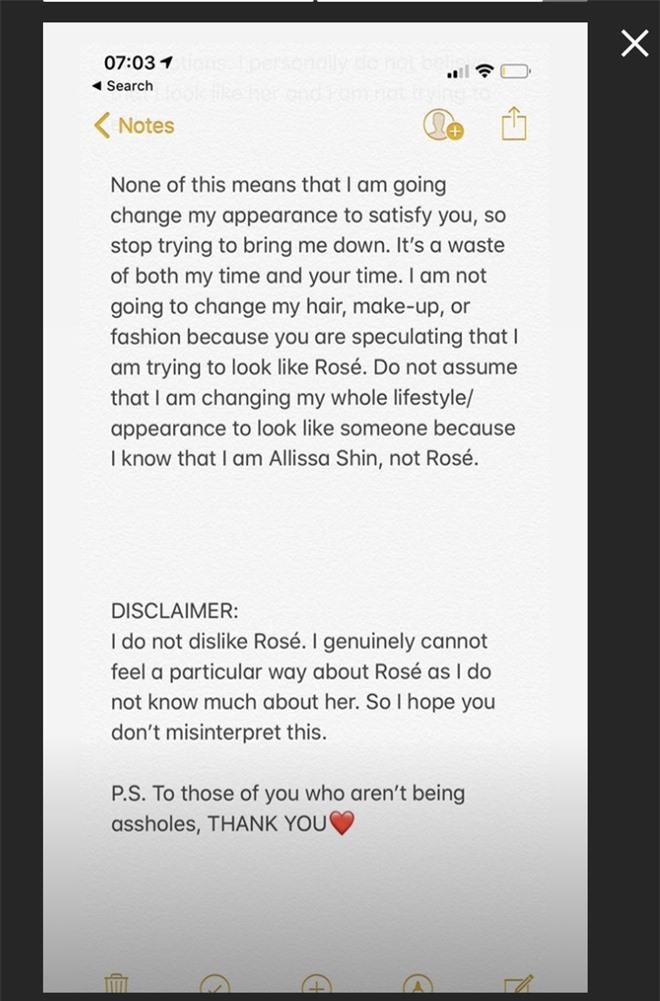 Tìm ra hot Instagrammer giống Rosé (BLACKPINK) như chị em sinh đôi, ai ngờ phải viết tâm thư vì bị ném đá tơi bời - Ảnh 8.