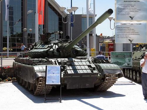 Một xe tăng chiến đấu chủ lực T-55 sau khi trải qua quá trình hiện đại hóa. Ảnh: Defence Blog.