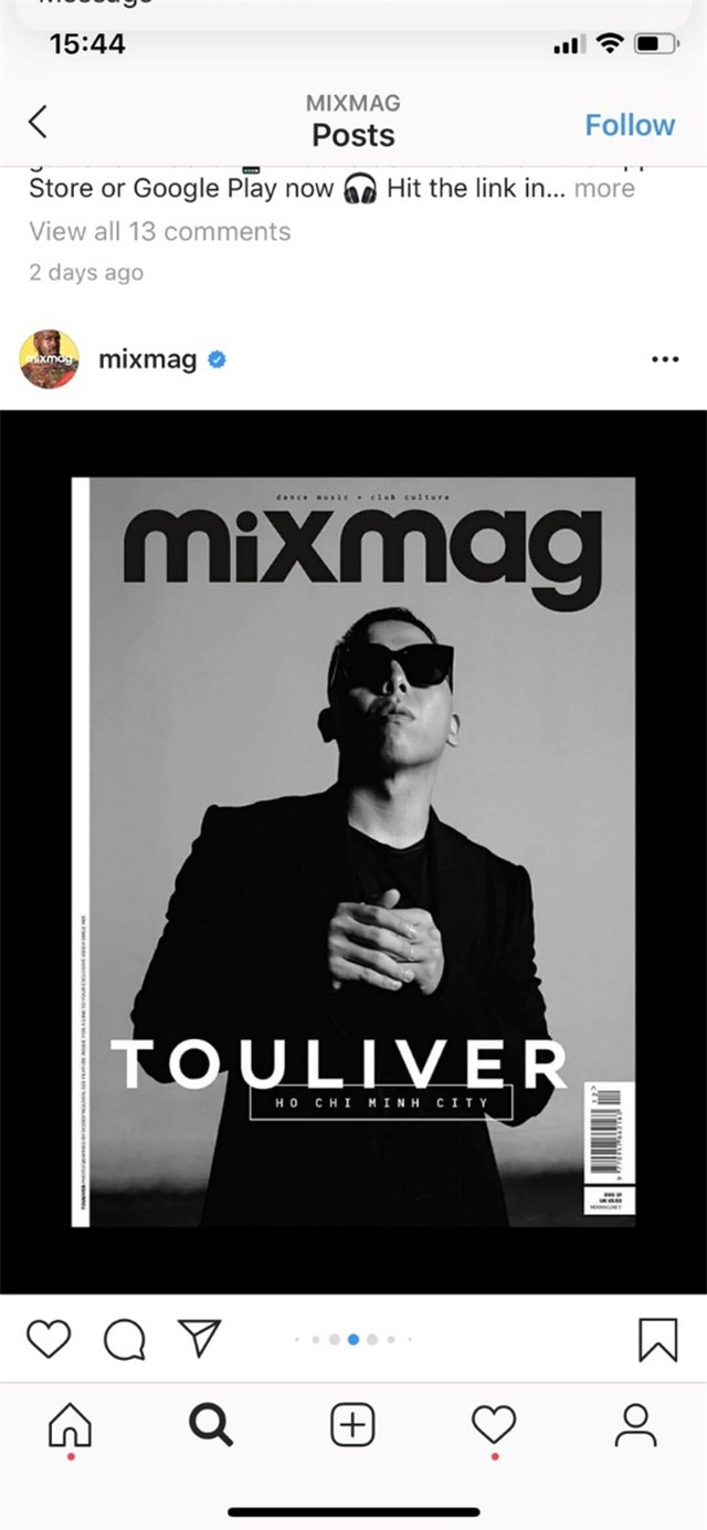 Touliver là nghệ sĩ Việt Nam đầu tiên xuất hiện trên MixMag, tạp chí âm nhạc hàng đầu thế giới - 2