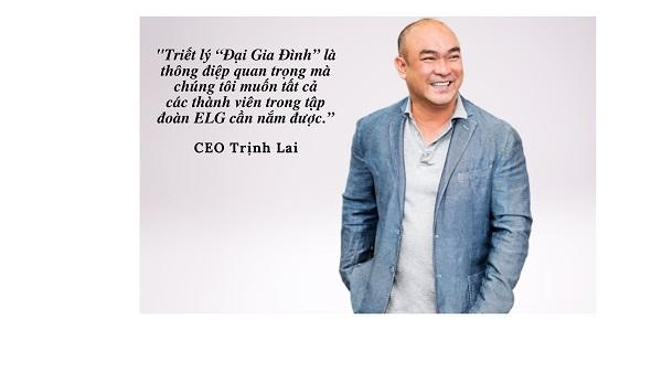 ông Trịnh Lại, Người sáng lập và Chủ tịch tập đoàn ELG.