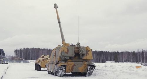 Hệ thống pháo tự hành 2S19M1-155 cỡ 155 mm. Ảnh: TASS.