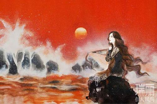 Ảnh vẽ Dương Mịch đẹp tuyệt trên ấn phẩm Thụy Lệ