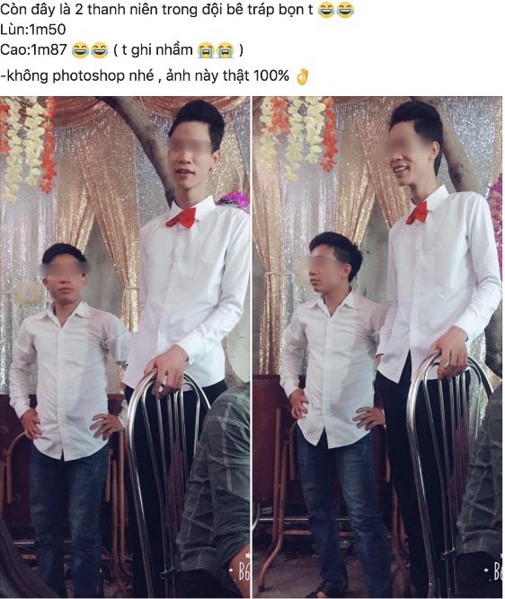 Hình ảnh cặp đũa lệch bê tráp trong đám cưới khiến dân mạng thích thú.