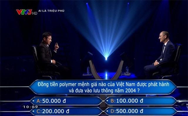 Diễm Quỳnh trợ giúp trả lời xuất sắc cho MC Anh Tuấn chơi Ai là triệu phú - Ảnh 2.