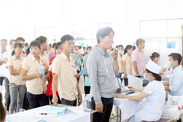 Công ty TNHH Dona Pacific (H.Trảng Bom) tổ chức khám sức khỏe cho người lao động