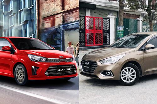 Kia Soluto 1.4 Luxury và Hyundai Accent 1.4 AT.