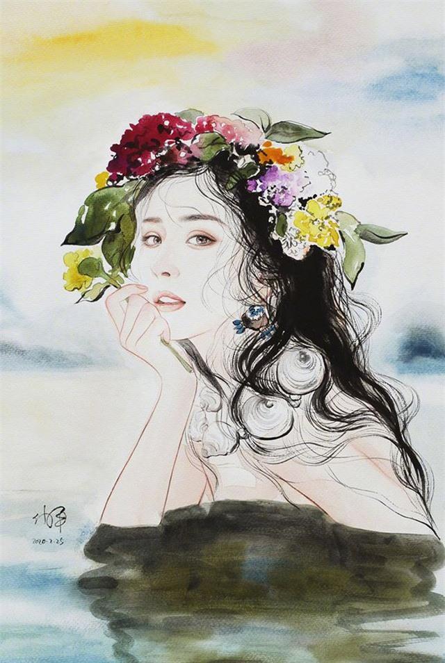 Tung ảnh vẽ, Dương Mịch đẹp tuyệt trên ấn phẩm Thụy Lệ - Ảnh 2.