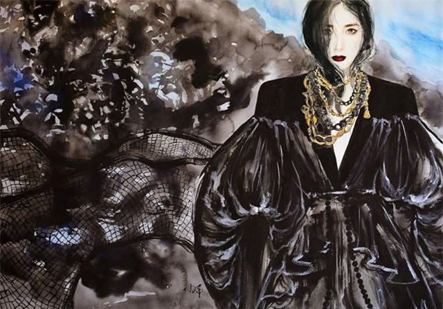 Tung ảnh vẽ, Dương Mịch đẹp tuyệt trên ấn phẩm Thụy Lệ - Ảnh 6.