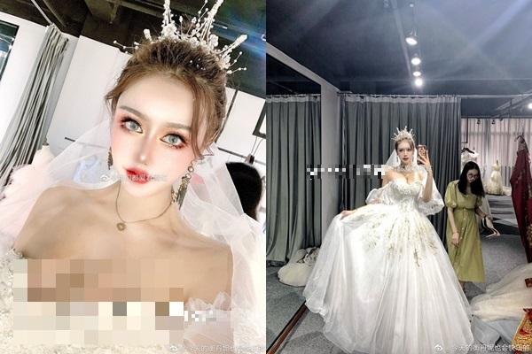 Hình ảnh cô gái đăng tải trên mạng.