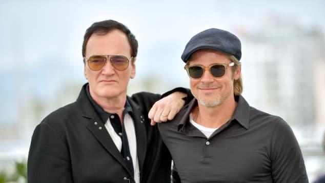 Đạo diễn Quentin Tarantino (trái) có những tiết lộ thú vị về Brad Pitt.