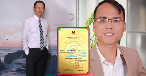"""Anh Kiều Trường Lâm và đồng tác giả – thầy Trần Tư Bình được cấp bản quyền cho """"Chữ Việt Nam song song 4.0"""" (CVNSS 4.0)."""