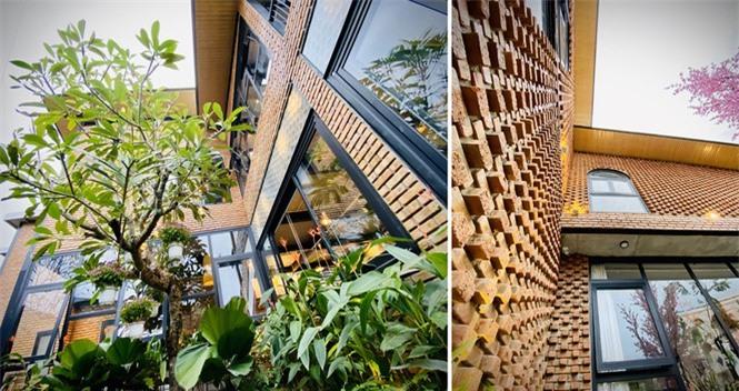 Ngôi nhà kết hợp quán cafe đẹp lạ nhờ nghệ thuật xếp gạch gây mê - ảnh 3