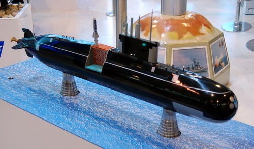 Tàu ngầm Amur 1650 được sửa đổi để mang tên lửa hành trình PJ-10 BrahMos. Ảnh: Jane's 360.