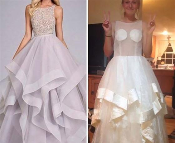 Từ màu sắc đến kiểu dáng của 2 chiếc váy đều khác xa nhau.