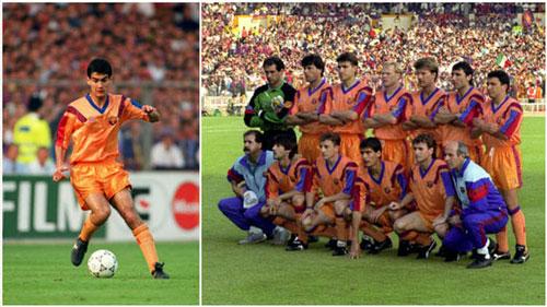 1. Áo đấu Barcelona ở mùa giải 1991/92 được bán với giá 680 euro: Đây là mùa giải mà Barcelona được dẫn dắt bởi cố HLV Johan Cruyff và sở hữu nhiều hảo thủ như Ronald Koeman, Michael Laudrup, Pep Guardiola hay Hristo Stoichkov... đã giành chức vô địch La Liga, Siêu cúp Tây Ban Nha và cúp C2 châu Âu