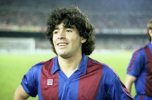 1. Diego Maradona (1982-1984). Ảnh: FC Barcelona.