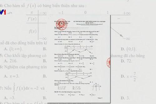 Đề tham khảo thi THPT Quốc gia giảm độ khó so với năm ngoái