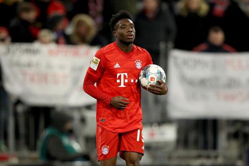 10. Alphonso Davies (Bayern Munich).