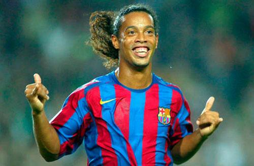 2. Ronaldinho (2003-2008). Ảnh: FC Barcelona Noticias.