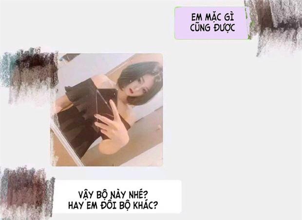 Hình ảnh cô gái gửi cho anh chàng.