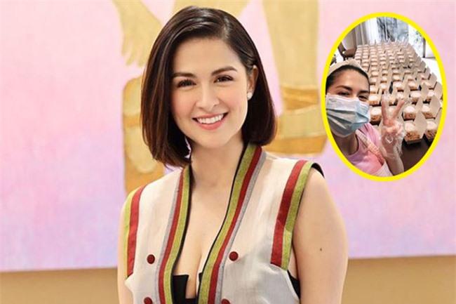 """Sao châu Á hỗ trợ người dân giữa đại dịch: Lee Hyori miễn phí tiền thuê nhà, """"mỹ nhân đẹp nhất Philippines"""" nấu hàng trăm bữa ăn cho đội chống Covid-19 - Ảnh 9."""