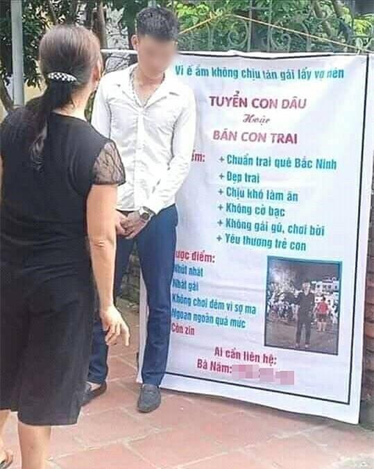 Thanh niên không chịu lấy vợ bị mẹ đăng biển