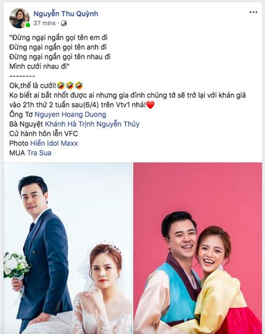Thu Quỳnh khoe ảnh hạnh phúc bên chồng Tuấn Tú khiến fan phát sốt - Ảnh 2.