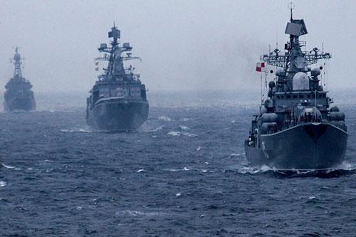 Lực lượng tác chiến của hải quân Nga thuộc nhiều hạm đội đã bước vào thời kỳ hoạt động với tần suất rất hiếm gặp trong thời gian gần đây.