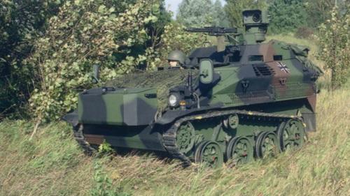 Một phương tiện trinh sát W Diesel 1 được trang bị tháp pháo E6-II-A1 được trang bị pháo hai nòng đôi 20 mm MK 20 Rh 202. Đây là một trong ba phiên bản được FFG nâng cấp cho Quân đội Đức. Nguồn: Rheinmetall