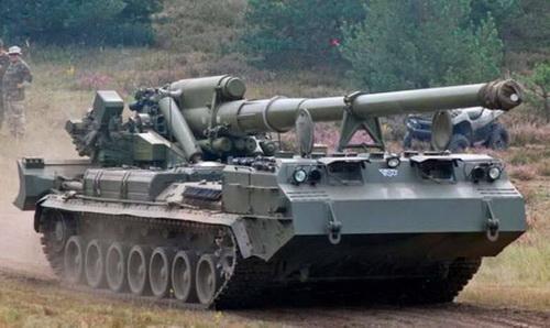 Pháo tự hành 2S7M Malka của Quân đội Nga. Ảnh: TASS.
