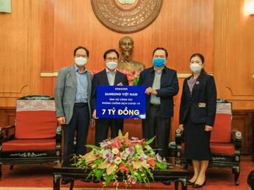 Samsung Việt Nam ủng hộ 10 tỷ đồng để phòng chống dịch Covid-19