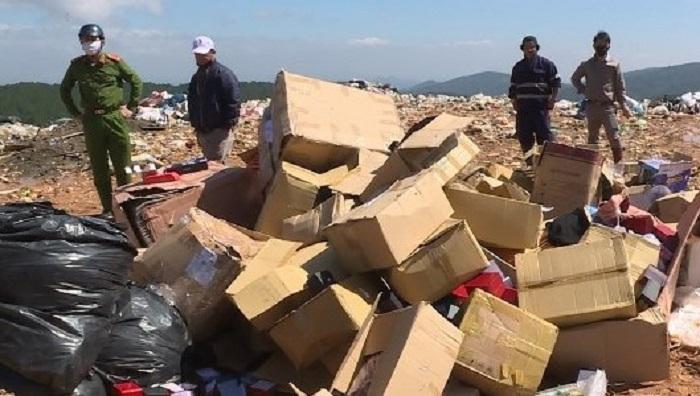 Ngành chức năng tỉnh Lâm Đồng tổ chức tiêu huỷ hàng hóa vi phạm