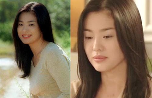 """Song Hye Kyo khi đóng """"Trái tim mùa thu"""" năm 2000."""