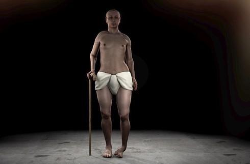 Hình ảnh vua Tutankhamun được tái dựng bằng kỹ thuật 3D.