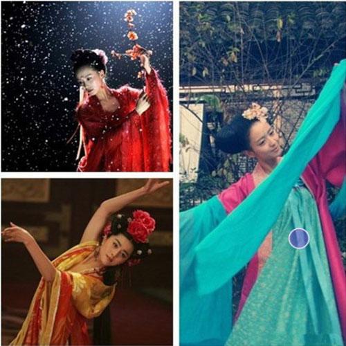 Cùng là một điệu múa uyển chuyển cả Phạm Băng Băng và Lưu Thi Thi đều múa đẹp và đúng cảm xúc của nhân vật.