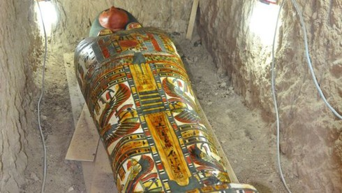 Xác ướpđược tìm thấy trong một ngôi mộ có từ năm 1075 - 664 trước Công nguyên