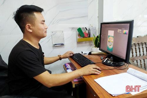 Lê Hồng Quý chọn ngành thiết kế đồ họa