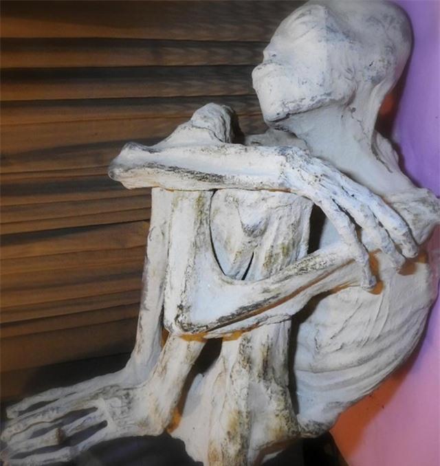 Tất cả các xác ướp đều chỉ có 3 ngón tay, 3 ngón chân và được phủ một lớp bột trắng kỳ lạ