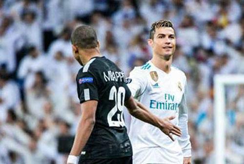Kylian Mbappe và Cristiano Ronaldo.