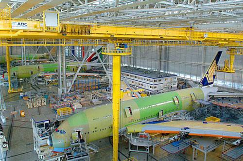 Bên trong nhà máy của Airbus tại Toulouse, Pháp. Ảnh: Airbus.