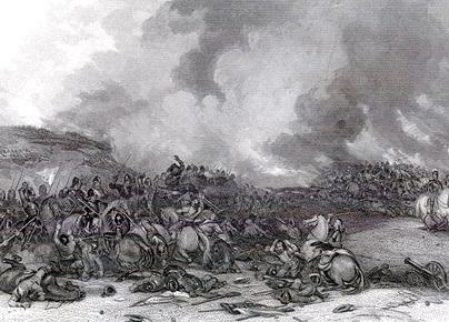 Hình ảnh trận đánh Naseby thời Nội chiến nước Anh năm 1645.