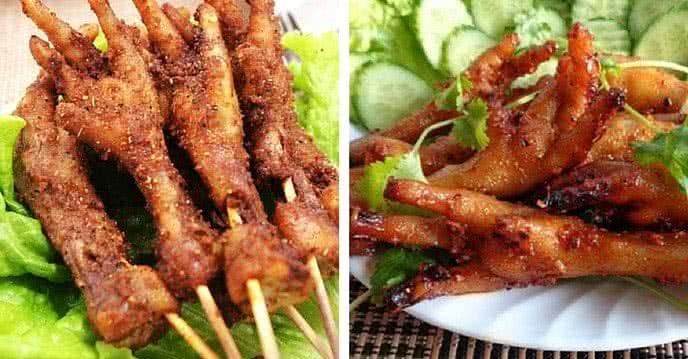Chân gà thường được ngâm hóa chất tảy rửa để tươi lâu