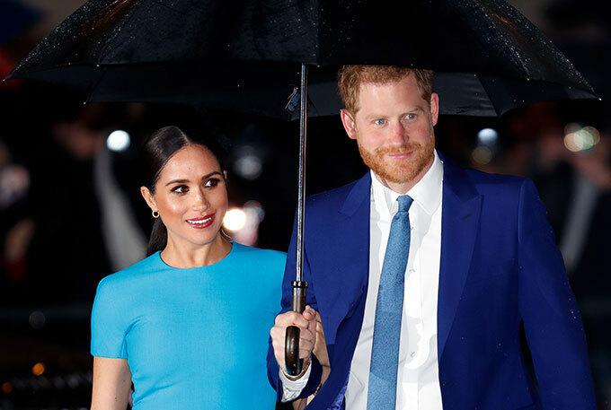 Vợ chồng Harry - Meghan dự lễ trao giải quỹ Endeavour ở London, Anh tối 5/3. Ảnh: Max Mumby.
