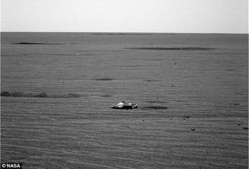 Rò rỉ ảnh vật thể bí ẩn trên sao Hỏa nghi là phi thuyền của người ngoài hành tinh