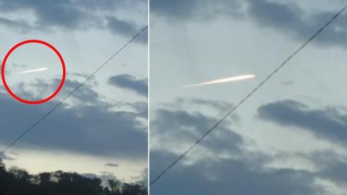 Hình ảnh vệt sáng lạ nghi là thiên thạch bốc cháy trên bầu trời Nhật Bản sau động đất