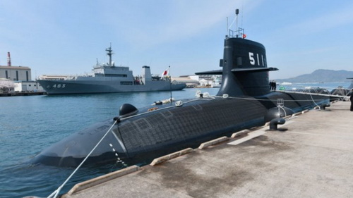Tàu ngầm JS Oryu đã tới căn cứ để làm nhiệm vụ trực chiến. Ảnh: Jane's 360.