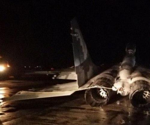 Máy bay chiến đấu MiG-29 của Không quân Ukraine phải hạ cánh khẩn cấp. Ảnh: TASS.