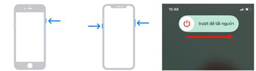 Đây là giải pháp đơn giản nhưng thường hiệu quả nhất mỗi khi iPhone bị treo, chạy chậm. Trên iPhone 8 và 8 Plus trở về trước, nhấn giữ nút nguồn rồi trượt nút gạt sang phải. Trên iPhone X về sau, nhấn giữ nút nguồn và nút chỉnh âm lượng rồi trượt nút gạt sang phải để tắt nguồn. Sau khi máy đã tắt, nhấn giữ nút nguồn đến khi logo Apple hiện lên, chờ máy khởi động rồi tiếp tục sử dụng. Ảnh: Apple.