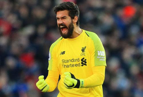 1. Alisson (Liverpool) - Số trận giữ sạch lưới: 12/20.